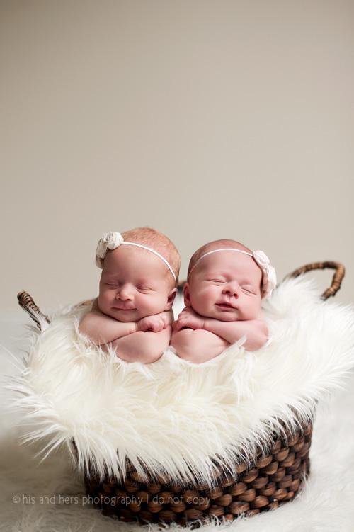 Sophia & Chloe Newborn Twins | Des Moines, Iowa Newborn Photographer