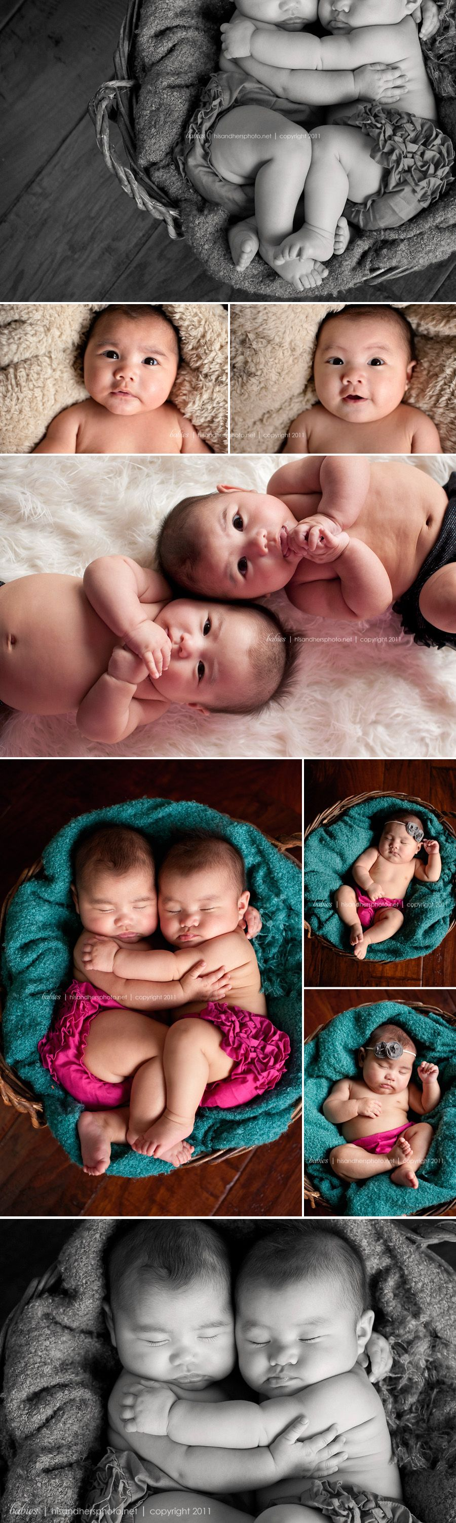 Ava & Ella, 3 month old twins | Des Moines Iowa Baby & Children's Photographer