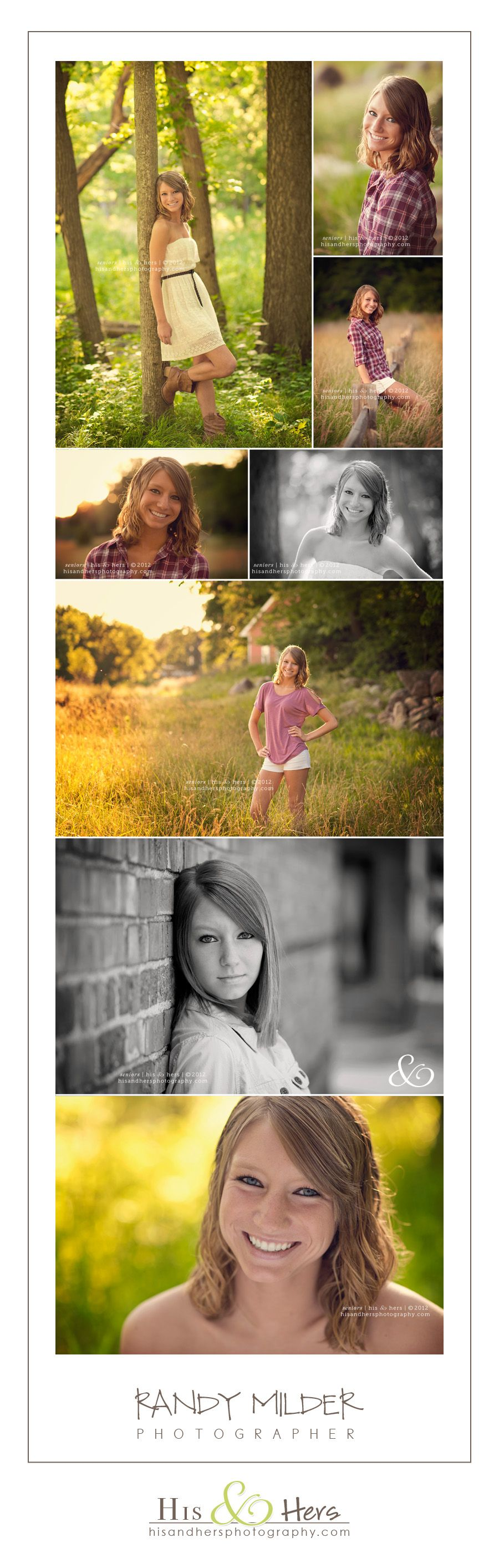 des moines iowa high school senior portraits | class of 2012 | photographer, randy milder | his & hers