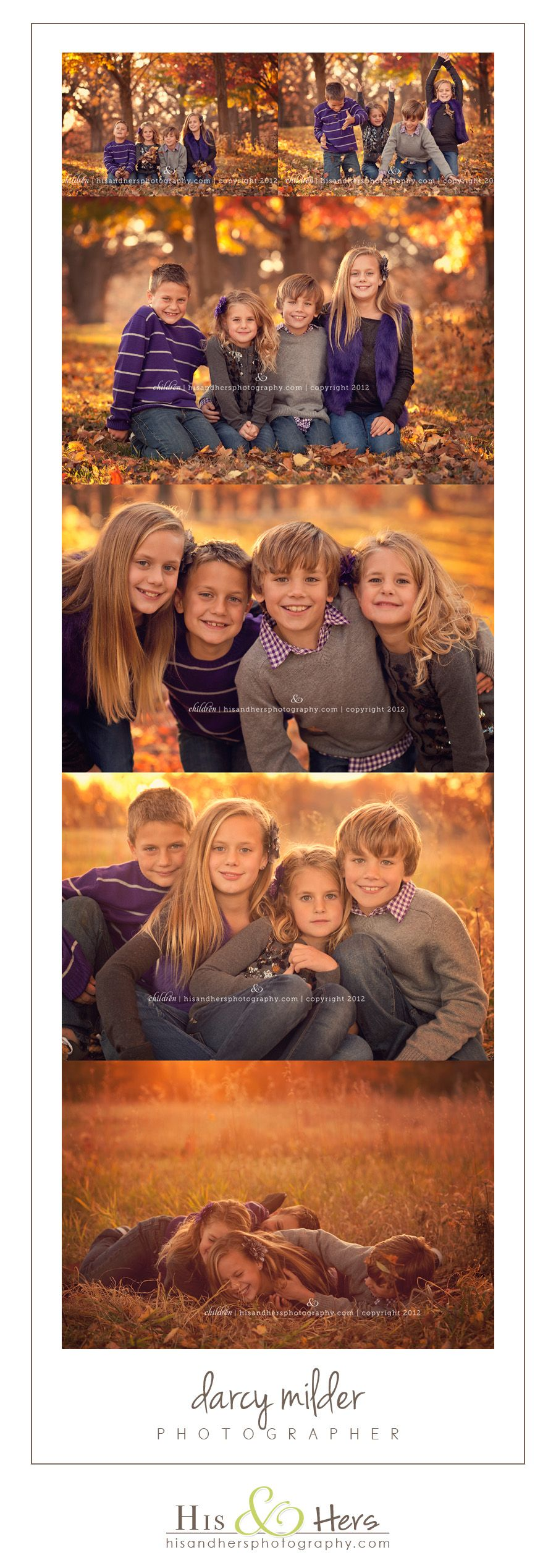Children & Family Photographer | Fall Sibling Session, age 4, 6, 8, and 10
