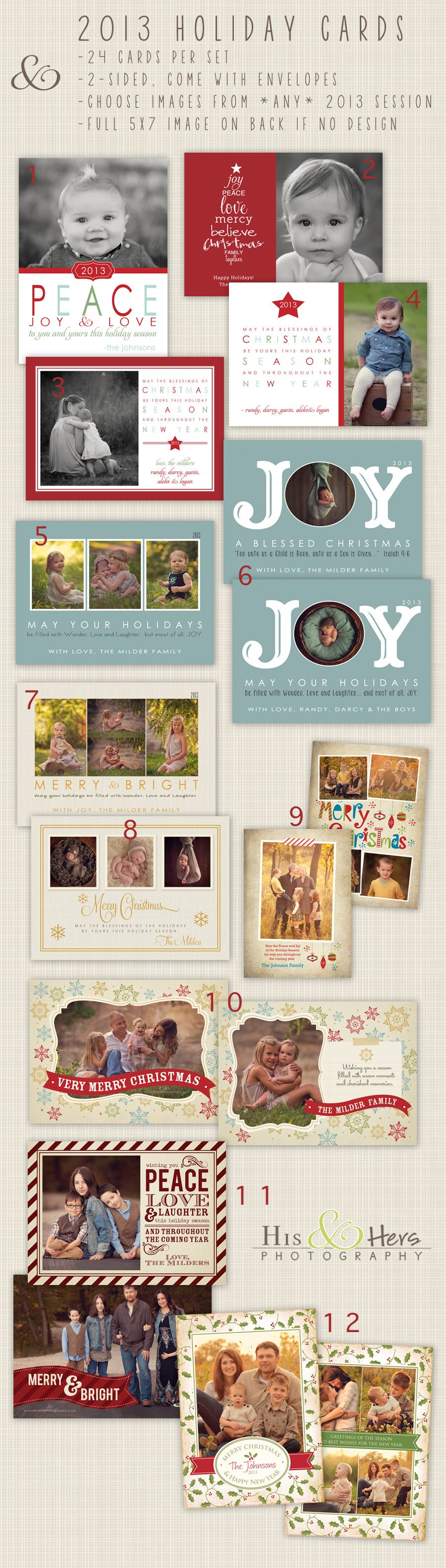 2013 Christmas & Holiday Cards