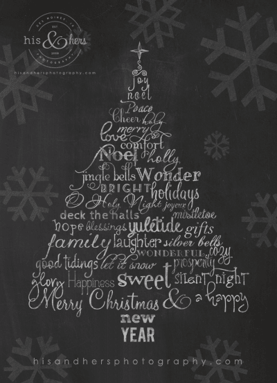 happy holidays from H&H des moines iowa photographer