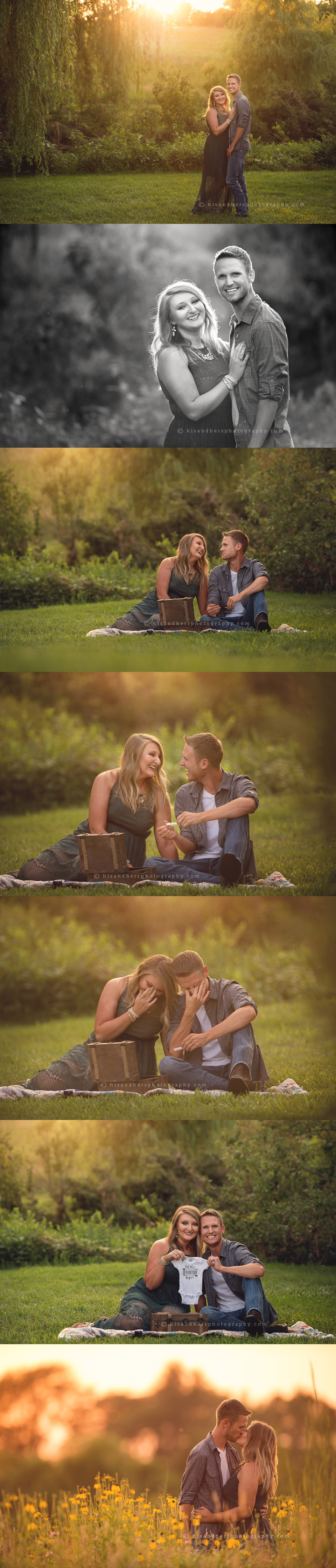 maternity pregnancy reveal secret pregnancy announcement des moines iowa photographer