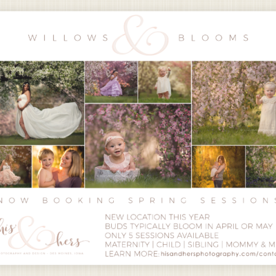 2019 spring sessions blooming trees flowers photo session des moines iowa photographer