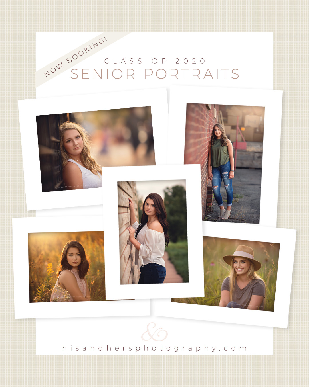 Now Booking | Class of 2020 Senior Portraits